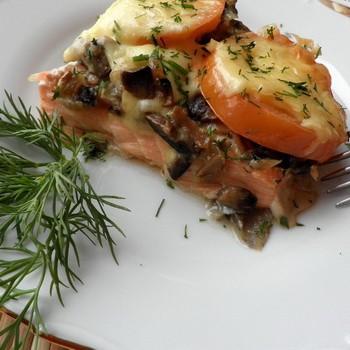 Рецепты блюд из грибов с рыбой