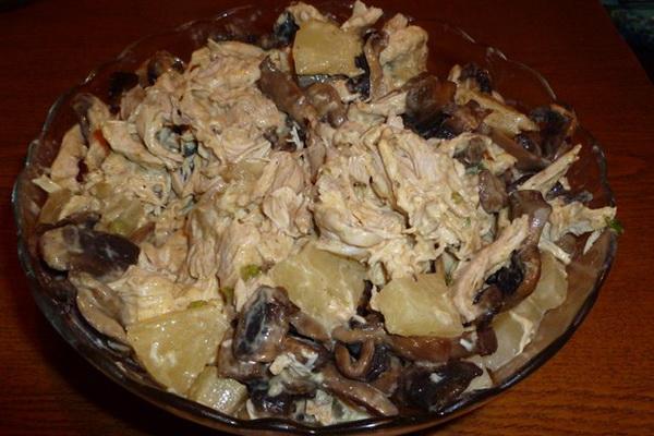 Праздничные салаты с грибами на Новый год