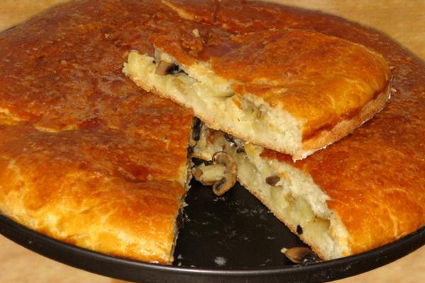 Рецепты постных пирогов с грибами