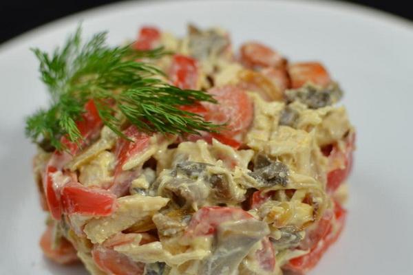 Салат с курицей и болгарским перцем простой рецепт 155