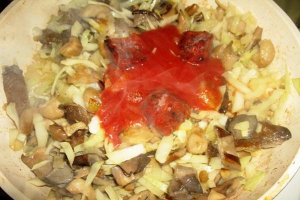 Вешенки с капустой: рецепты приготовления с фото
