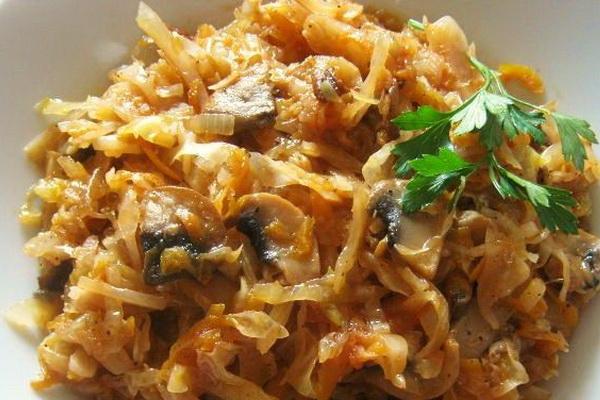 Рецепты блюд капусты с вешенками