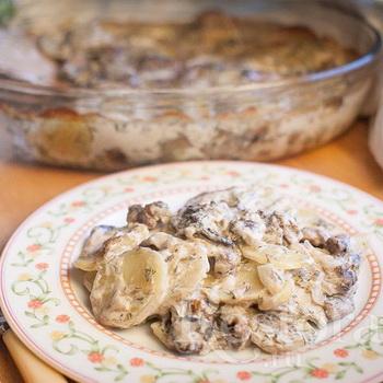 Картошка с грибами в сливках: рецепты блюд