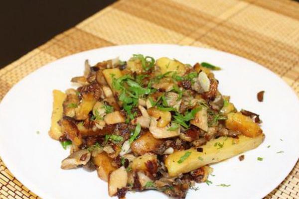 Блюдо и рецепты из шампиньонов