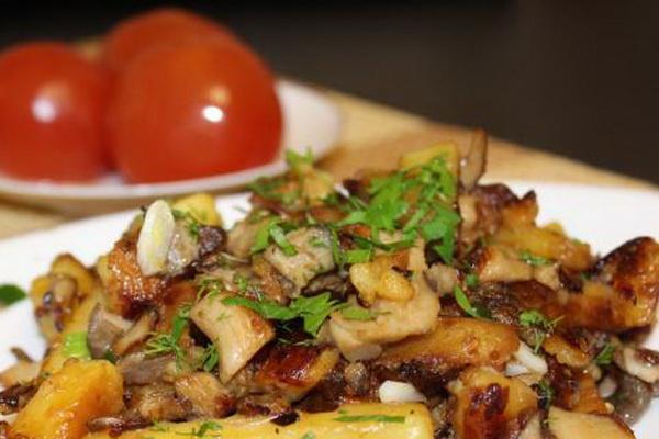Вешенки с картошкой на сковороде, в духовке и мультиварке