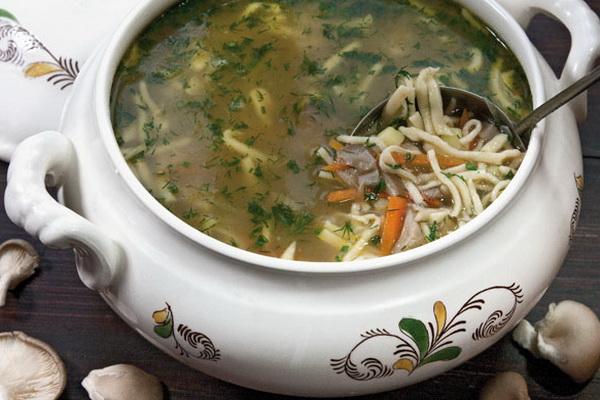 приготовить суп из грибов маслят