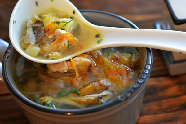 Суп с вешенками на мясном бульоне рецепт