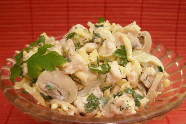 Маринованный салат с грибами вешенками