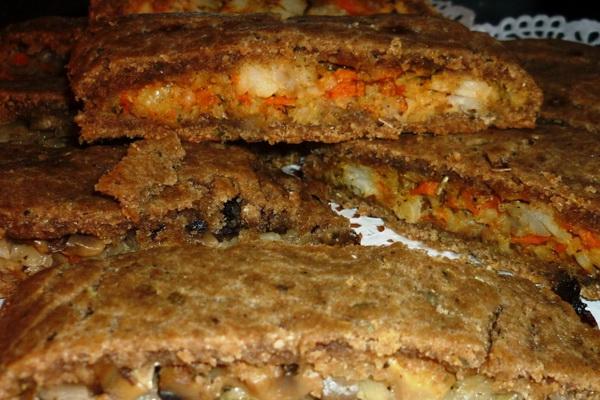 Рецепты пирогов с начинкой из соленых грибов