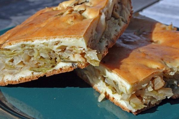Пирог из капусты и манки в духовке рецепт