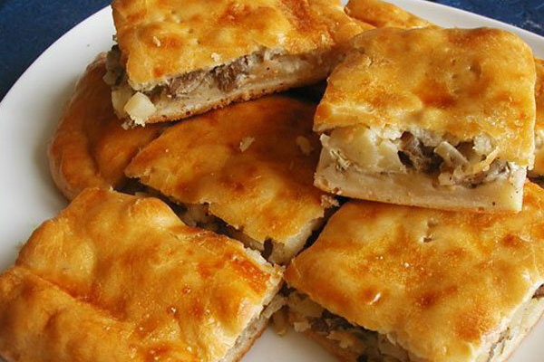 Пироги с грибами из теста на кефире