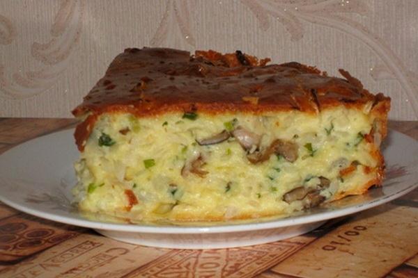 Простые и вкусные заливные пироги с грибами