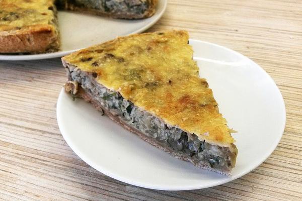 пирог открытый с капустой