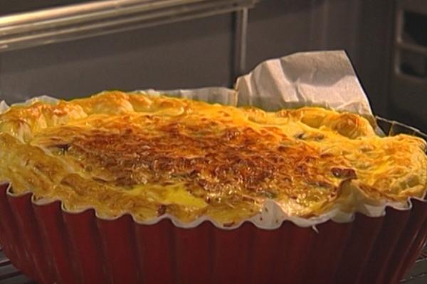 Слоеные пироги с грибами из дрожжевого и бездрожжевого теста