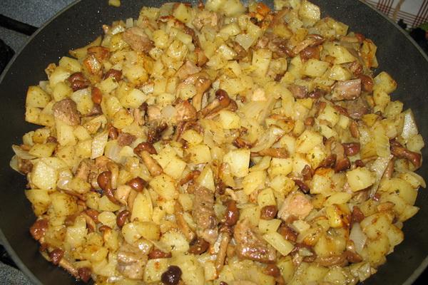 Как приготовить свежие грибы с картошкой