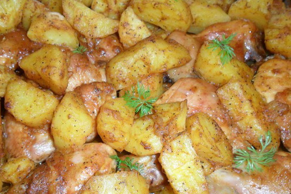 тебе, печень в духовке с картошкой и грибами основывается именно