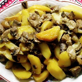 как приготовить осенние опята с картошкой