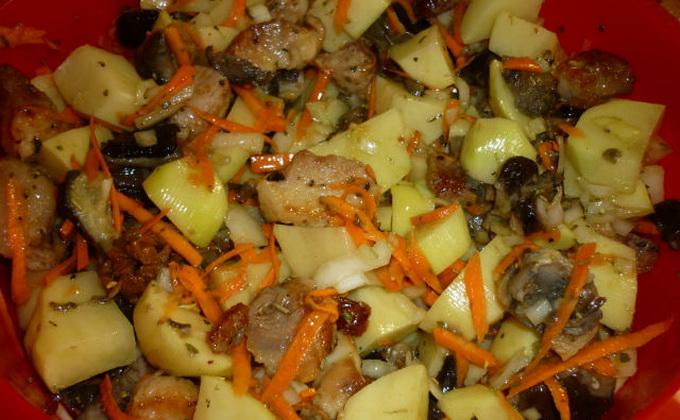 Жаркое с картошкой и свининой в горшочках в духовке рецепт с пошагово 118