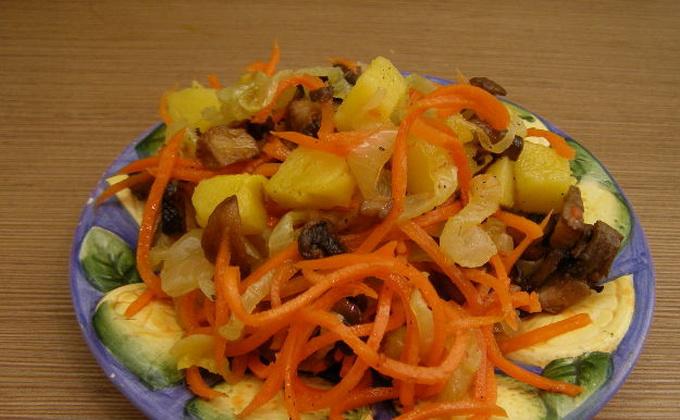 Рецепты салатов с опятами и корейской морковью