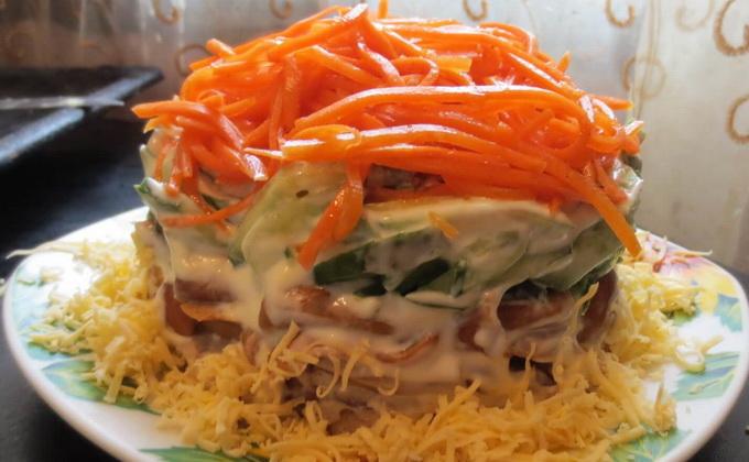 салат жар-птица рецепт с корейской морковью