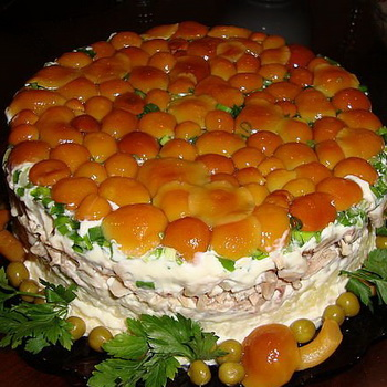 праздничные салаты рецепты с опятами