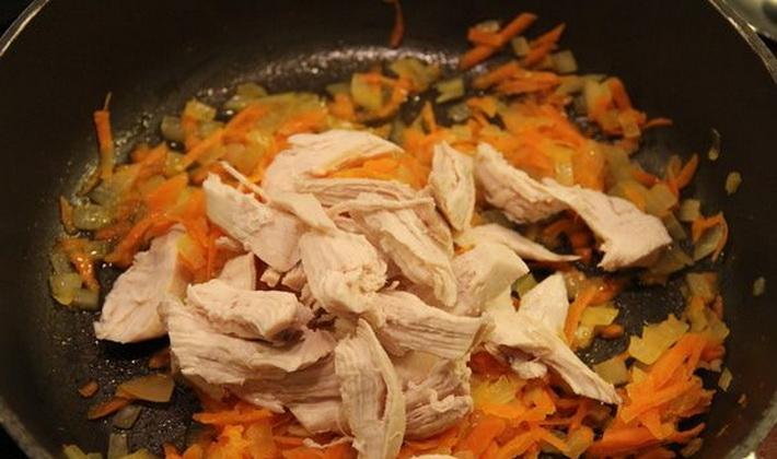 Грибы с картошкой и филе курицы или индейки