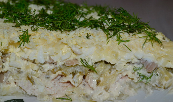 рецепты салатов со свежими опятами