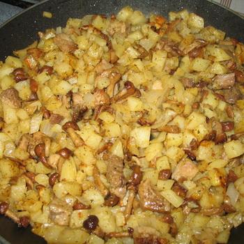 опята в духовке с картошкой рецепт с фото