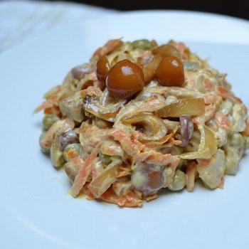 грибные салаты с опятами рецепты с фото