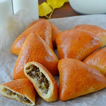 Пирожки рецепт пошаговый на сковороде вкусные 47