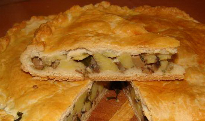 Пирожки с опятами на сковороде и в духовке