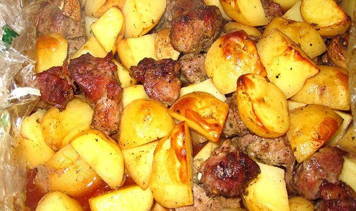 Жаркое из свинины с картошкой в духовке рецепт пошагово