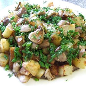 Рецепты блюд из картошки с замороженными грибами