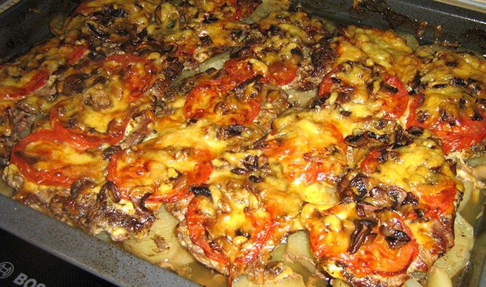 Мясо духовке пошаговый рецепт фото