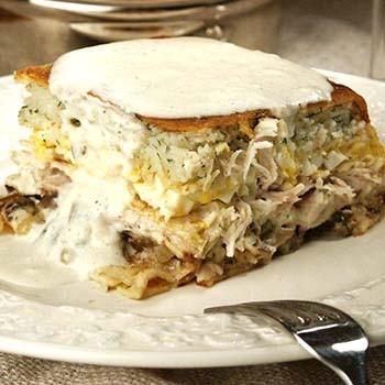 Рецепты блинных пирогов с грибами (с фото)