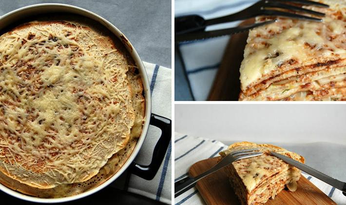Блинный пирог рецепт с рыбой 154