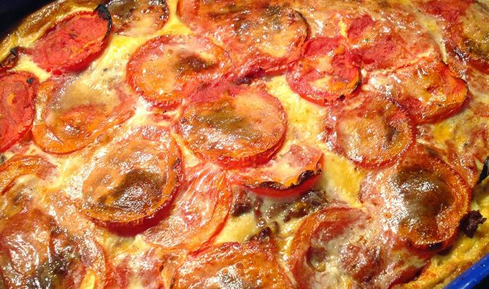 Открытый пирог с курицей и грибами - пошаговый рецепт с ...
