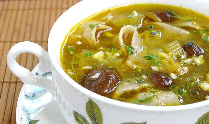 Рецепт суп с грибами и лапшой рецепт пошагово