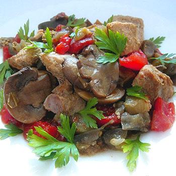 Рецепты приготовления свинины с грибами и картофелем