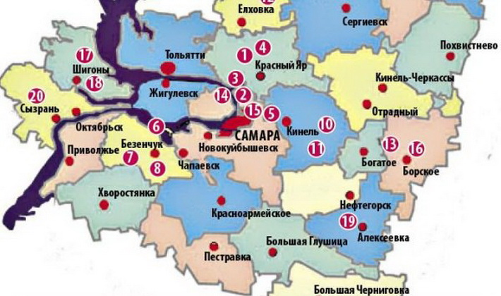 Места, где растут опята в Самаре и Самарской области