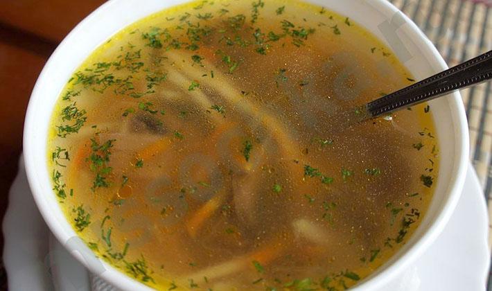 суп из свежих белых грибов на мясном бульоне рецепты