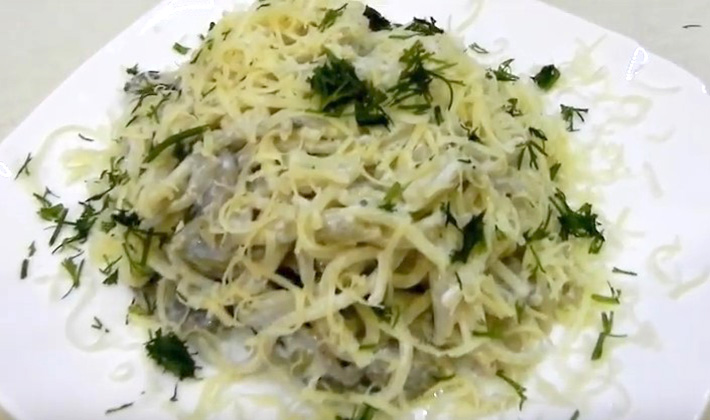 Рецепты приготовления спагетти с белыми грибами (с фото)