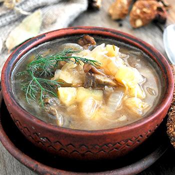 Рецепт супа с белыми грибами в мультиварке