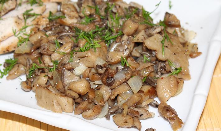 Рецепты белых жареных грибов с луком