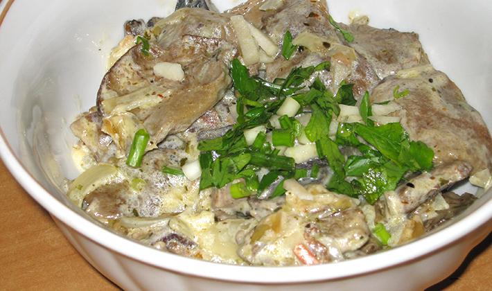 Рецепты приготовления белых грибов в сметане