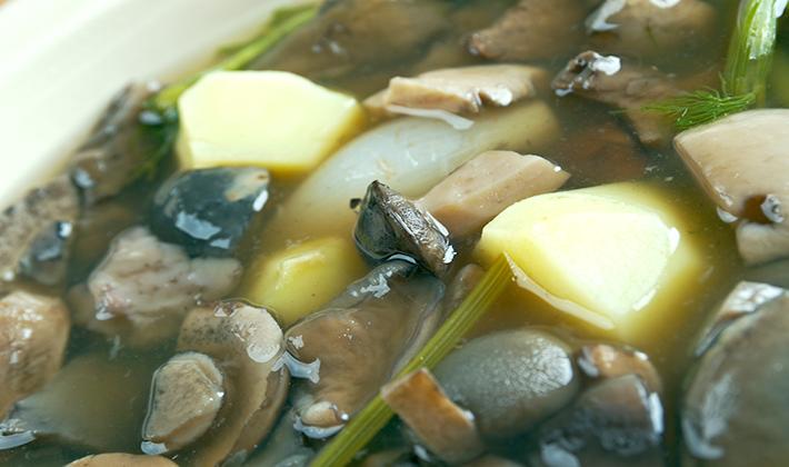 Рецепты супов из белых грибов с картофелем