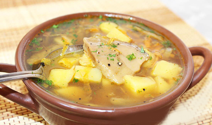 Рецепт супа из белых грибов видео