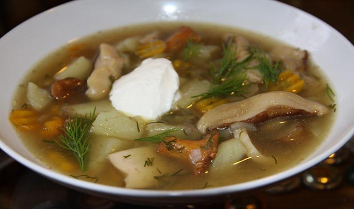 как приготовить суп с белыми грибами свежими