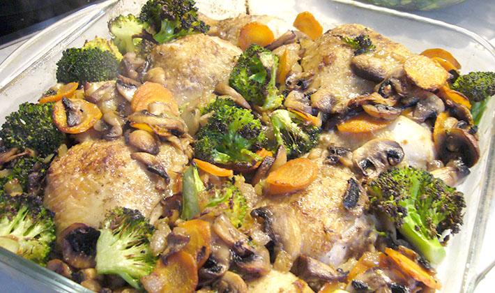 Рецепты приготовления курицы с белыми грибами