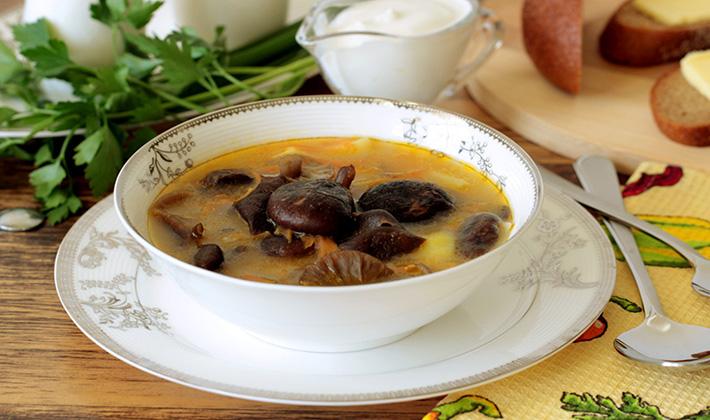 Суп из белых грибов свежих рецепт с манкой